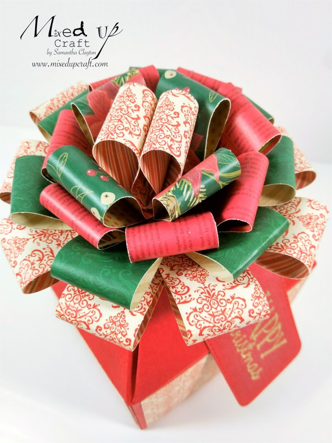 Big Bow Christmas Gift Box