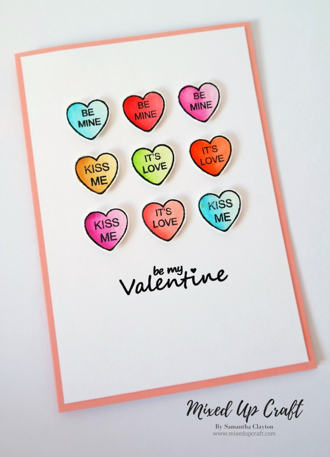 Love Hearts Valentines Card