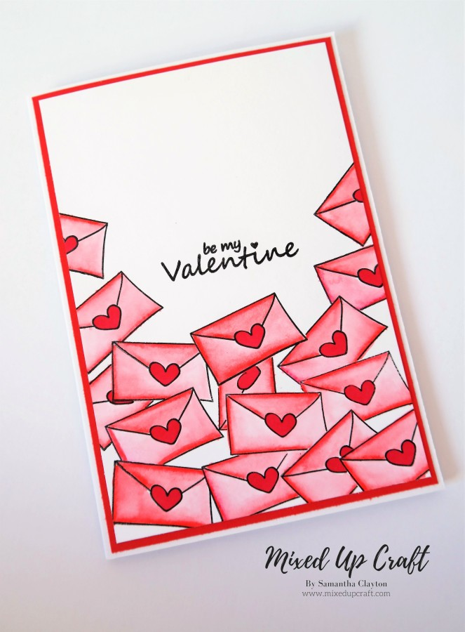 Mini Letter Valentines Card