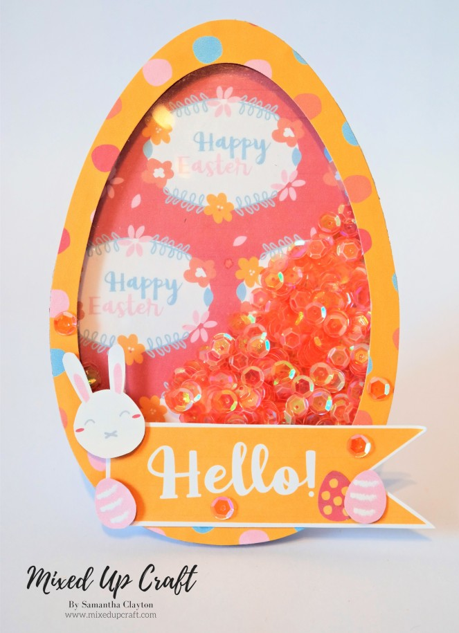 easter egg shaker card