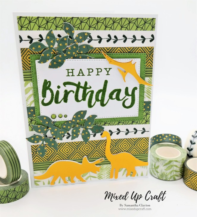 Dinosaur Birthday Card