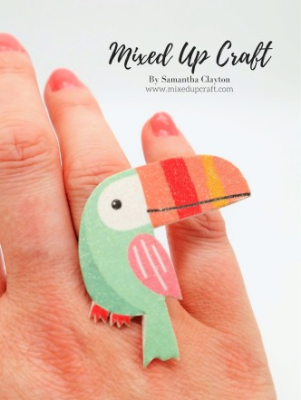 DIY Paper Bird Ring