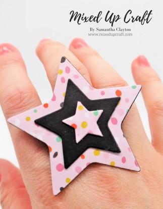 DIY Paper Star Ring