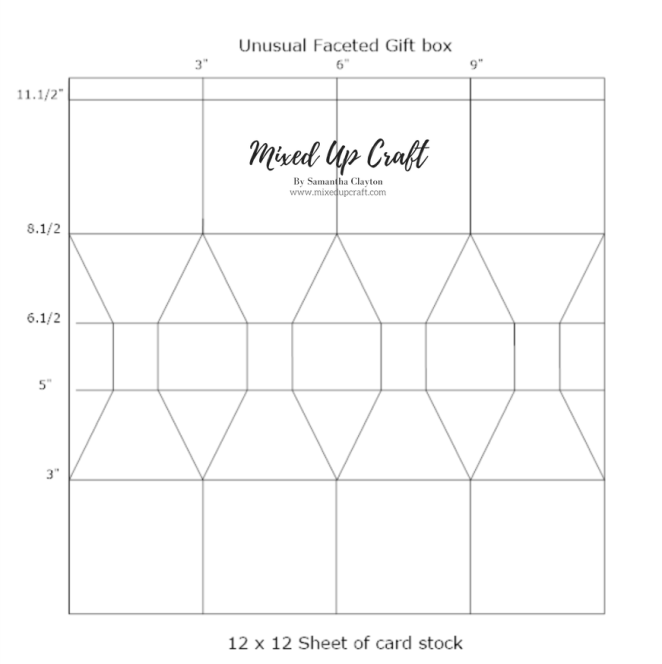 Faceted Gift Box Template