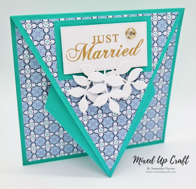 Arrow Fold Wedding card