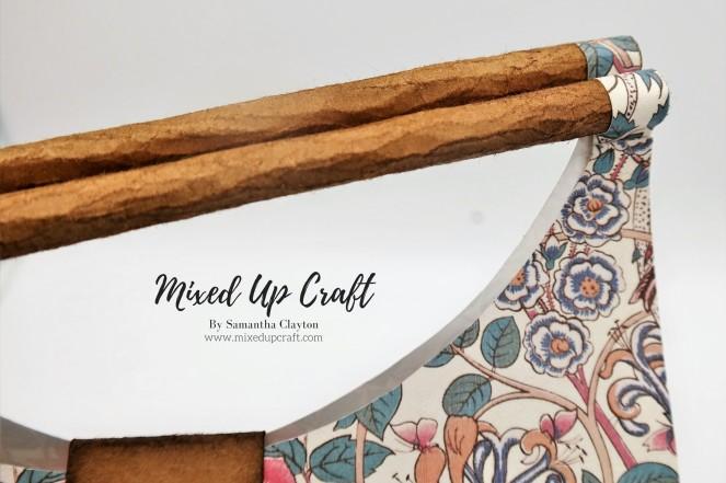 Faux Wooden Handle, Hobo Style Gift Bag