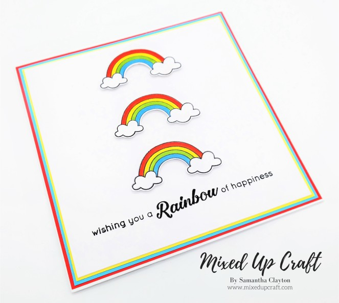 Triple Rainbow Card