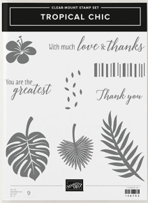 """Stampin Up """"Tropical Chic"""" Stamp Set"""
