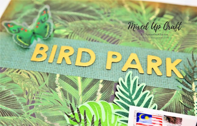 "Scrapbook Layout ""Bird park"""