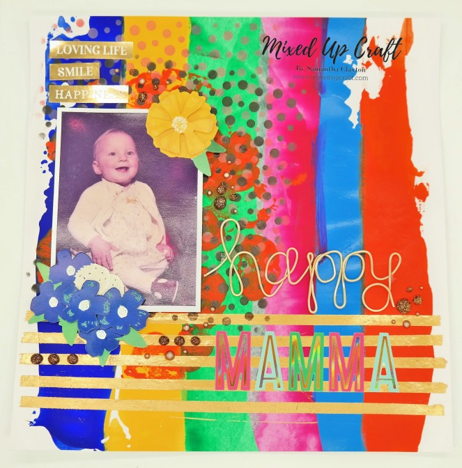"Scrapbook Layout ""Happy Mamma"""