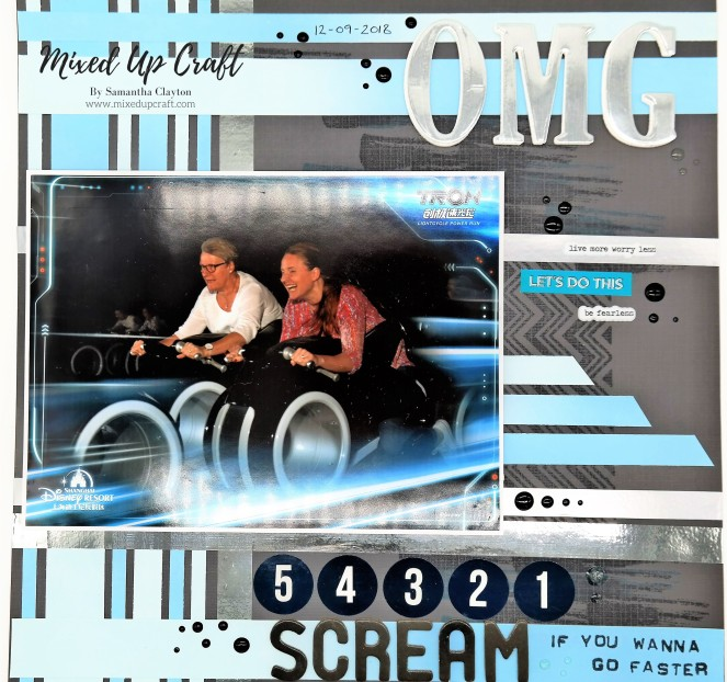 "Scrapbook Layout ""OMG"""