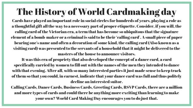 World Card-making Day