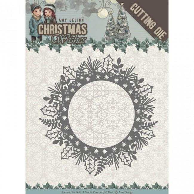 Amy Designs Holly Wreath Die