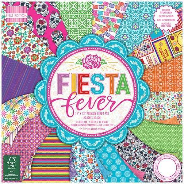 """First Edition """"Fiesta Fever"""" papers"""