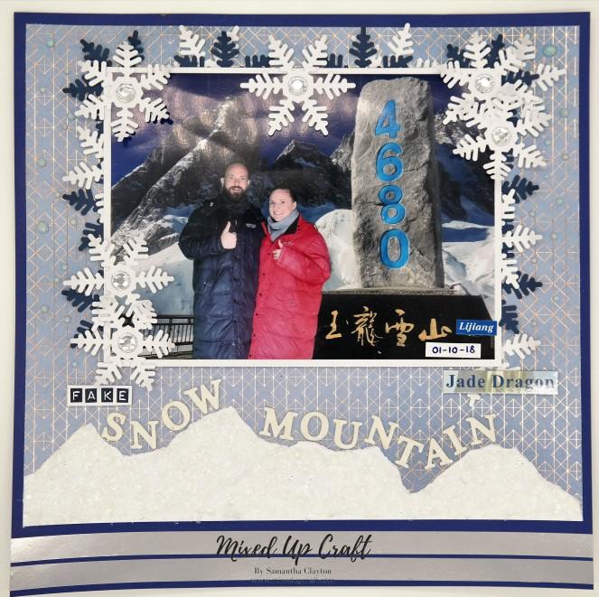 "Scrapbook Layout ""Fake Snow Mountain"""