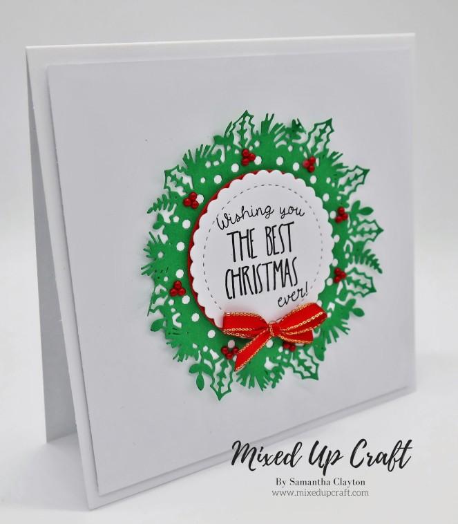 Classic Christmas Wreath Card