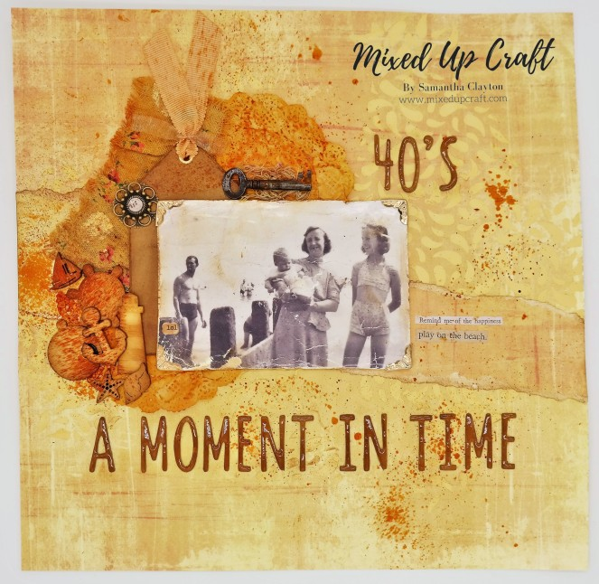 """Scrapbook Layout """"A Moment in Time"""""""
