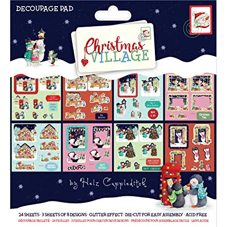 Helz Cuppleditch Christmas Village Decoupage Kit.
