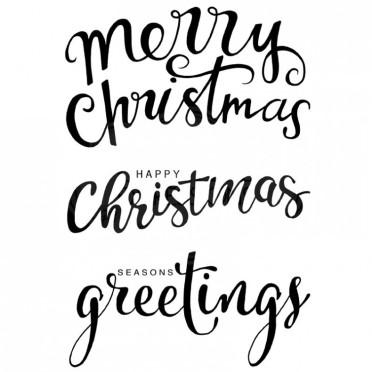 "Woodware ""Big Christmas Words"" Stamp Set"
