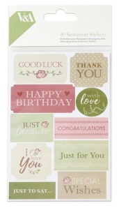 Victoria & Albert Sentiment Stickers