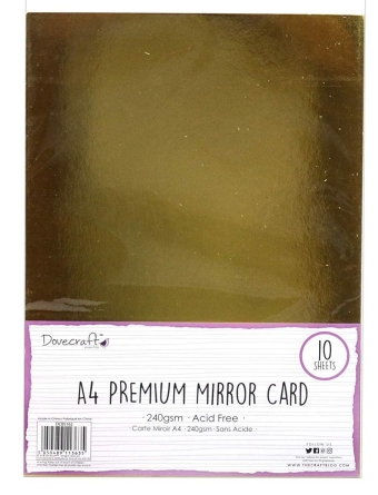 Dovecraft Gold mirrored card