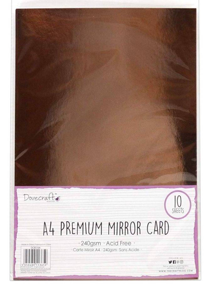 Dovecraft Rose Gold mirrored card