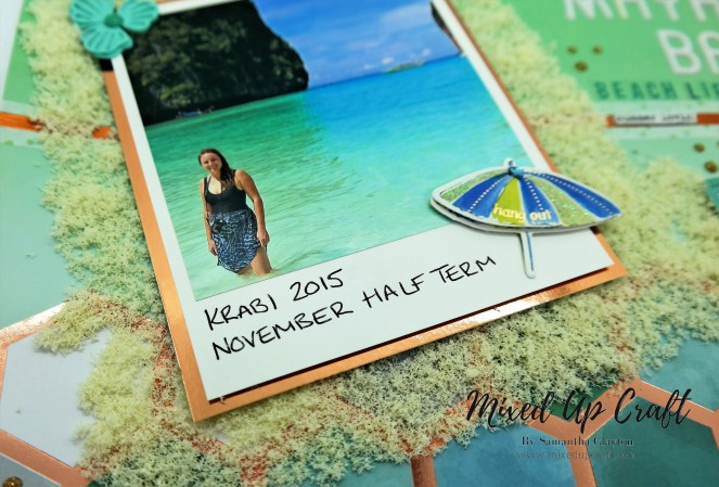 Beach themed scrapbook layout