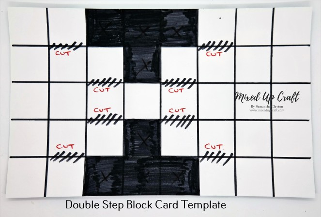 Double Block Step Card Template