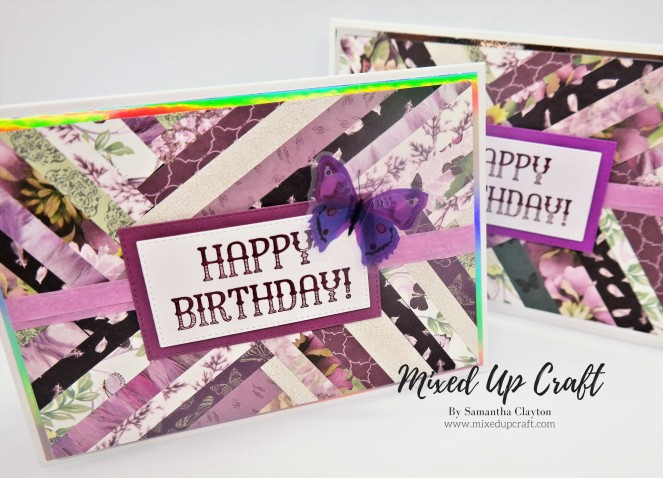 Herringbone Technique Birthday Cards