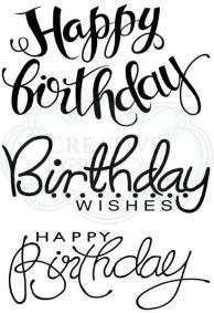 "Woodware ""Big Birthday Words"" stamp set"