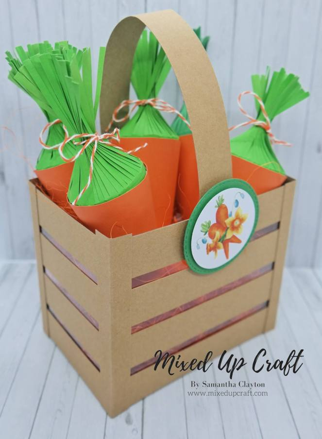 Carrot Treat Holders with Matching Crate Gift Bag