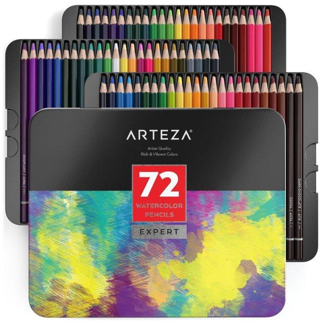 Cardmaking Using Arteza Watercolour Pencils