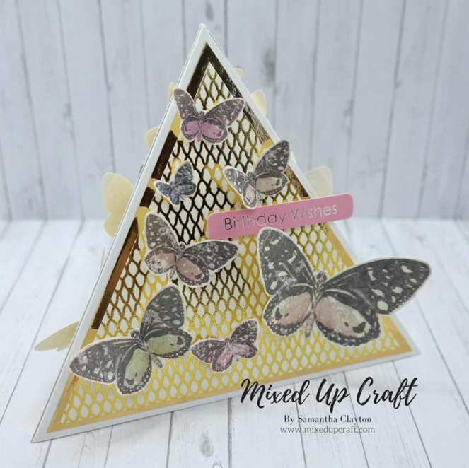 Pyramid Butterfly Card