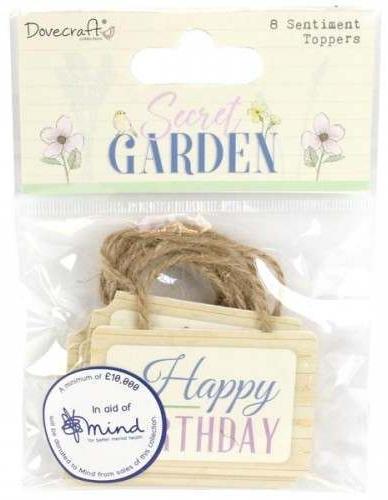 Secret Garden Sentiment Toppers