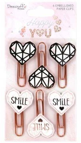 Happy You Embellished Paper Clips