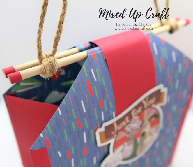 Fold Flat Gift Bag with Wooden Handle